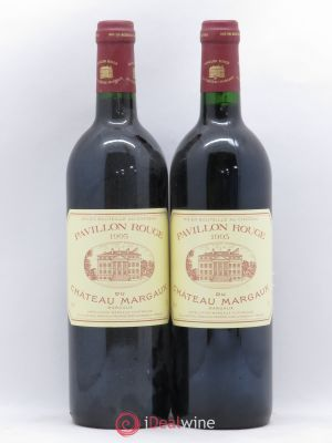 Pavillon Rouge du Château Margaux Second Vin  1995 - Lot de 2 Bottles