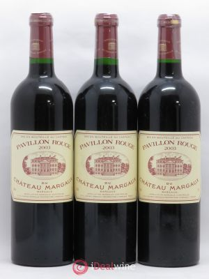 Pavillon Rouge du Château Margaux Second Vin  2003 - Lot de 3 Bottles
