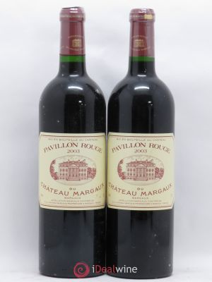 Pavillon Rouge du Château Margaux Second Vin  2003 - Lot de 2 Bottles