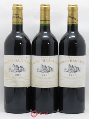 Clarence (Bahans) de Haut-Brion Second Vin  1998 - Lot de 3 Bottles