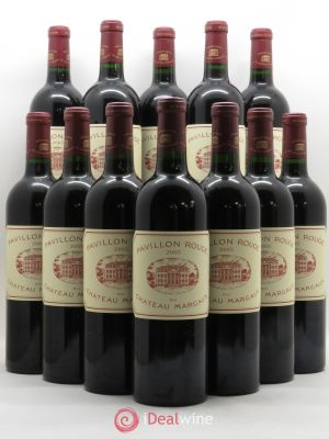 Bottle Pavillon Rouge du Château Margaux Second Vin  2005 - Lot de 12 Bottles