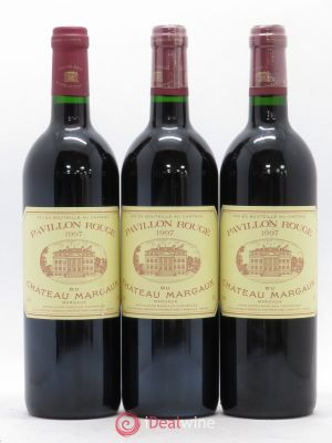 Pavillon Rouge du Château Margaux Second Vin  1997 - Lot de 3 Bottles