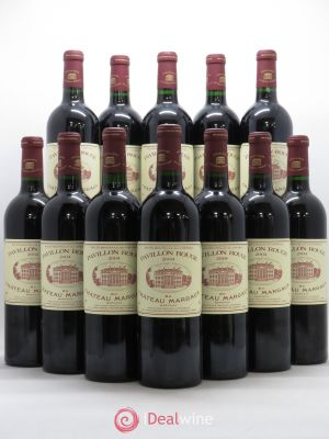 Bottle Pavillon Rouge du Château Margaux Second Vin  2004 - Lot de 12 Bottles