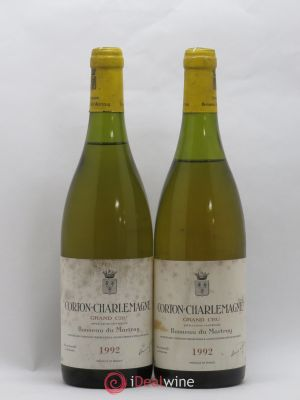 Corton-Charlemagne Grand Cru Bonneau du Martray (Domaine)  1992 - Lot de 2 Bottles