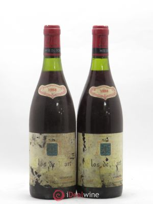 Clos de Tart Grand Cru Mommessin  1988 - Lot de 2 Bottles