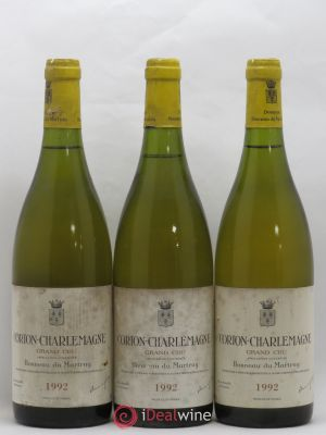 Corton-Charlemagne Grand Cru Bonneau du Martray (Domaine)  1992 - Lot de 3 Bottles