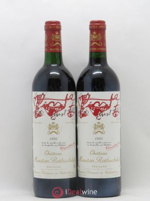 Château Mouton Rothschild 1er Grand Cru Classé  1995 - Lot de 2 Bottles