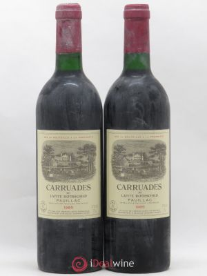 Carruades de Lafite Rothschild Second vin  1985 - Lot de 2 Bouteilles