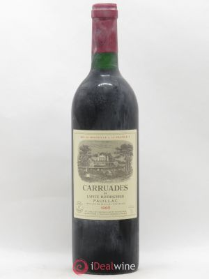 Carruades de Lafite Rothschild Second vin  1985 - Lot de 1 Bouteille