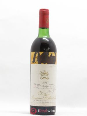 Château Mouton Rothschild 1er Grand Cru Classé  1974 - Lot de 1 Bottle