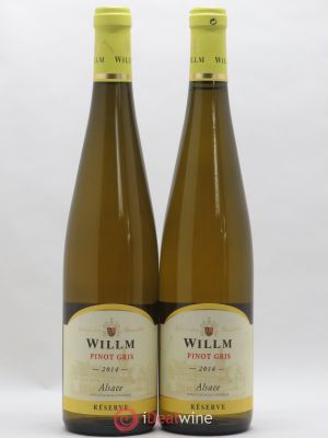 Pinot Gris (Tokay) Domaine Willm reserve (no reserve) 2014 - Lot de 2 Bottles