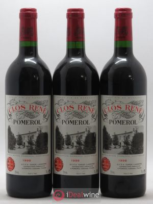 Clos René  1998 - Lot de 3 Bottles