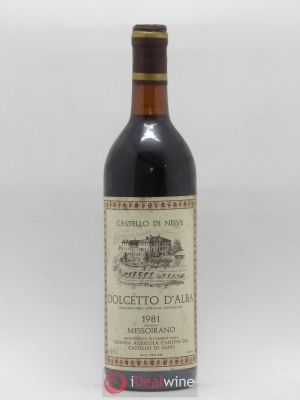 Dolcetto d'Alba DOC Messoirano Castello di Neive (no reserve) 1981 - Lot de 1 Bottle