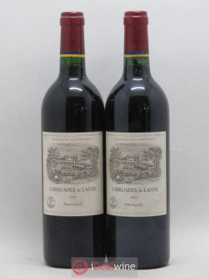 Carruades de Lafite Rothschild Second vin  2003 - Lot de 2 Bouteilles