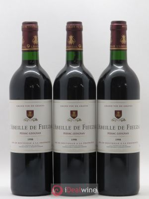 Abeille de Fieuzal  1998 - Lot de 3 Bottles