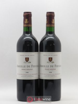 Abeille de Fieuzal  1998 - Lot de 2 Bottles