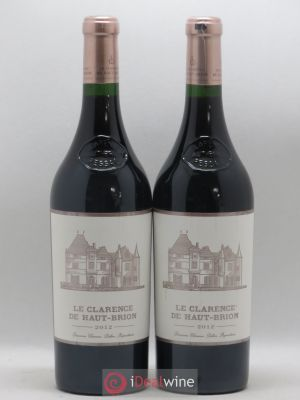 Clarence (Bahans) de Haut-Brion Second Vin  2012 - Lot de 2 Bouteilles