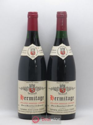 Hermitage Jean-Louis Chave  1990 - Lot de 2 Bottles