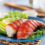 Salade de Homard bleu, vinaigrette passion coriandre