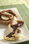 Tarte aux poires écrasées, cannelle et chocolat